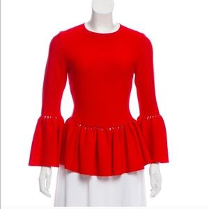 Guest editor red blouse